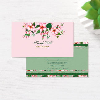Blommar rosor & gröntvisitkort visitkort