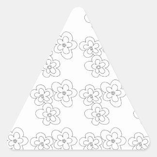 blommar triangelformat klistermärke