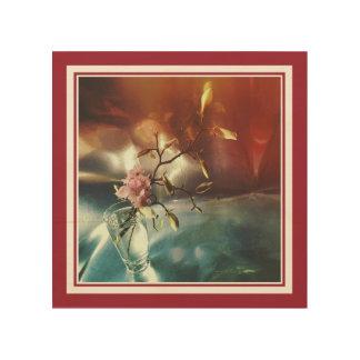 Blommarkörsbär och Magnolia Trätavla