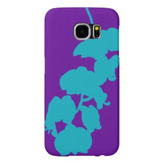BlommaSilhouette, kricka och lilor Samsung Galaxy S6 Fodral