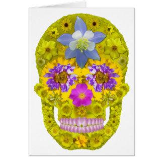 Blommaskalle 3 hälsningskort