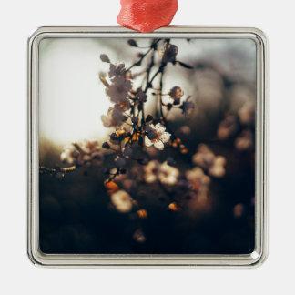 blommasolnedgången spänner solljus julgransprydnad metall