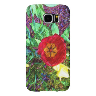 Blommatulpanteckning Galaxy S5 Fodral