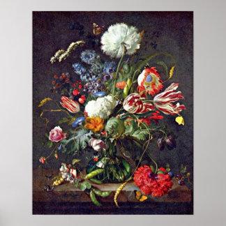 blommavas vid Jan Davidsz. de Heem Poster