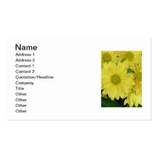 Blommavisitkortar Set Av Standard Visitkort