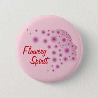 Blommig ande standard knapp rund 5.7 cm