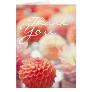 Blommig tackkort för korall OBS kort