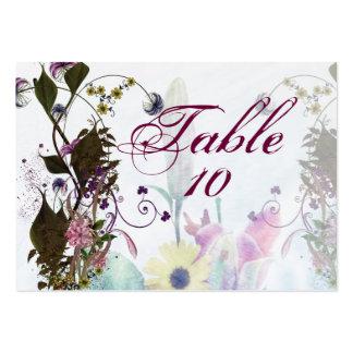 Blommiga kort för bröllopbukettplacering set av breda visitkort