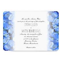 Blommigt 5x7 för vanlig hortensiaelegant personliga inbjudningskort