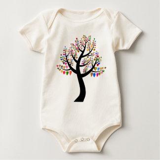 blommigt body för baby