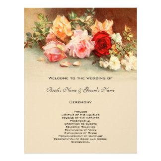 Blommigt för blomma för ro för vintage reklamblad
