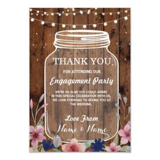 Blommigt för burk för bröllop för 8,9 x 12,7 cm inbjudningskort