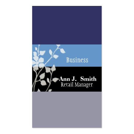 Blommigt för deppighet för affärer två för natur visitkort