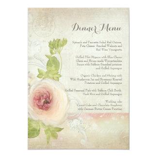 Blommigt för elegant för blomma för pion för 12,7 x 17,8 cm inbjudningskort