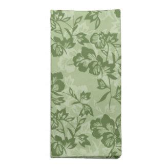 Blommigt för grönt för Moss för Iwalani vintage Tygservett