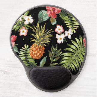 Blommigt för hibiskus för chic ananas för vintage gel musmatta