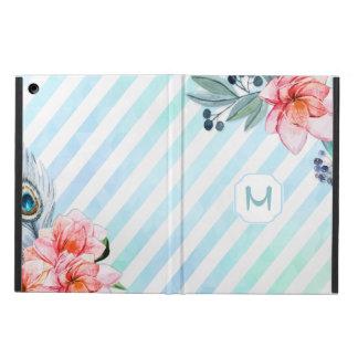 Blommigt för rand för Boho fjädervattenfärg iPad Air Skydd