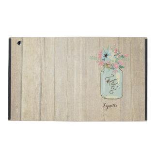 Blommigt för trädgård för burk för Mason för iPad Folio Skal