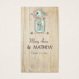 Blommigt för trädgård för burk för Mason för Visitkort