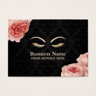 Blommigt för vintage för salong för Makeupkonstnär Visitkort