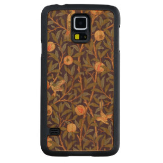 Blommigt för William Morris fågel- och Carved Körsbär Galaxy S5 Skal