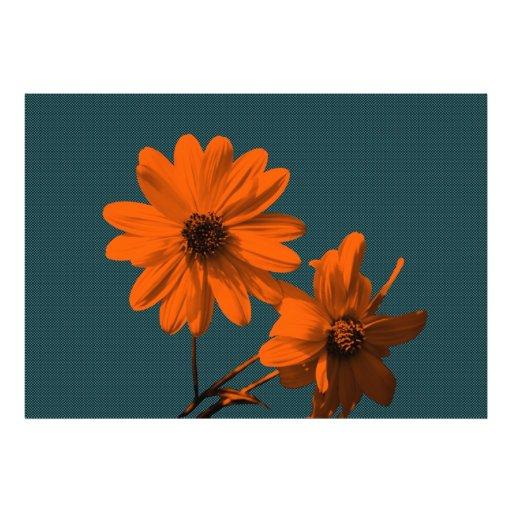 blommigt fototryck
