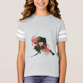 Blommigt & hjärta för svart tavla för Alaska Tröjor
