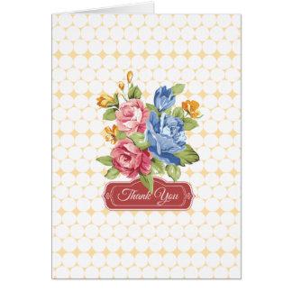 Blommigt- & pärlatack hälsningskort