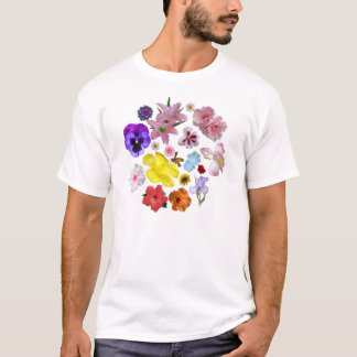 blommigt tee shirts