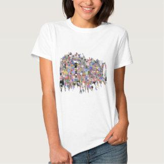 Blommigten marmorerar Marvellous T Shirts