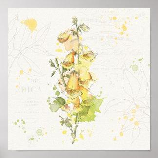 Blommigtgultstänk Poster