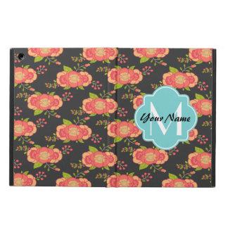 BlommönsteranpassningsbarMonogram Fodral För iPad Air