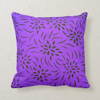 Blommönstret kudder för hem- dekor mig lilor kudde