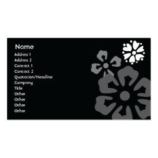Blommor - affär set av standard visitkort