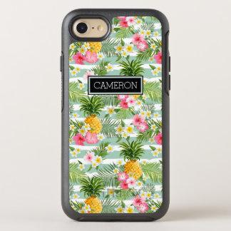 Blommor & ananaskrickarandar | tillfogar ditt namn OtterBox symmetry iPhone 7 skal