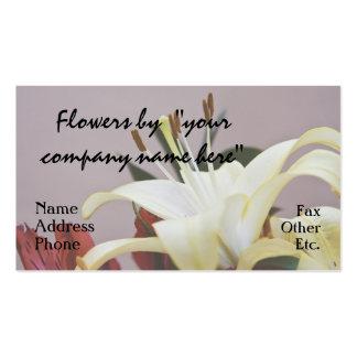 Blommor av dig set av standard visitkort