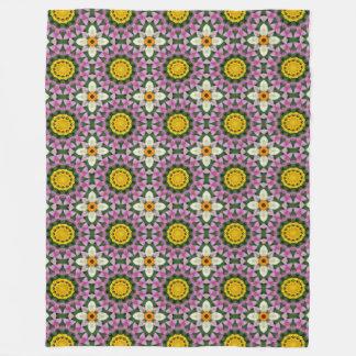 Blommor blom- mandala-stil, blommamandala fleecefilt