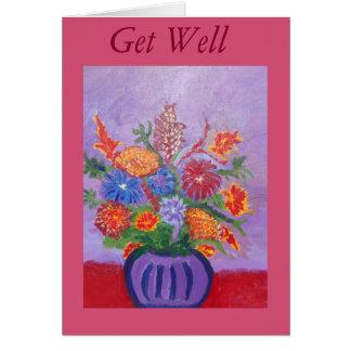 blommor får det väl kortet hälsningskort