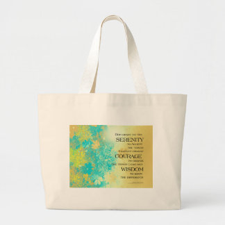 Blommor för guld för Serenitybönblått Jumbo Tygkasse