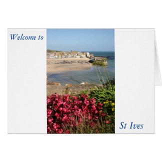 Blommor för St Ives hamnrosor Hälsningskort
