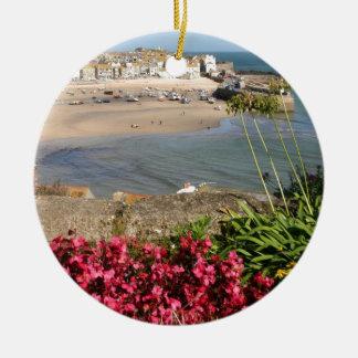 Blommor för St Ives hamnrosor Julgransprydnad Keramik