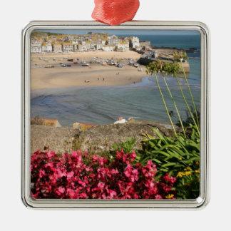 Blommor för St Ives hamnrosor Julgransprydnad Metall