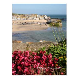 Blommor för St Ives hamnrosor Vykort