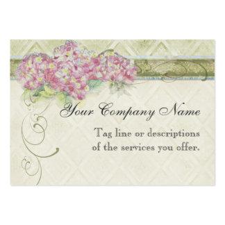 Blommor för vanlig hortensia för blått för vintage visit kort