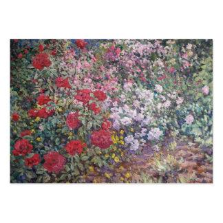 Blommor i den trädgårds- kalendern visitkort mallar
