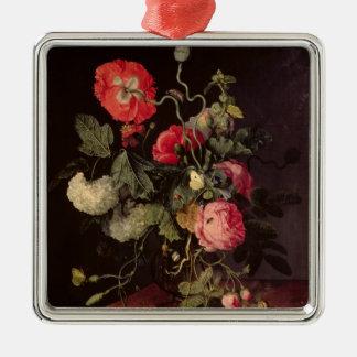Blommor i en Glass vas, 1667 Julgransprydnad Metall