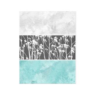 Blommor i kricka och grånar kanfas canvastryck