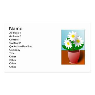 Blommor i kruka visit kort