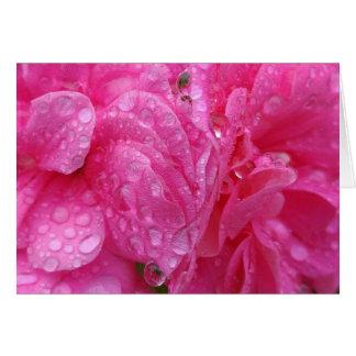 Blommor i regna hälsningskort