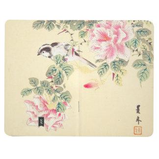 Blommor Japan för fågel- och roImao Keinen ukiyo-e Anteckningsbok